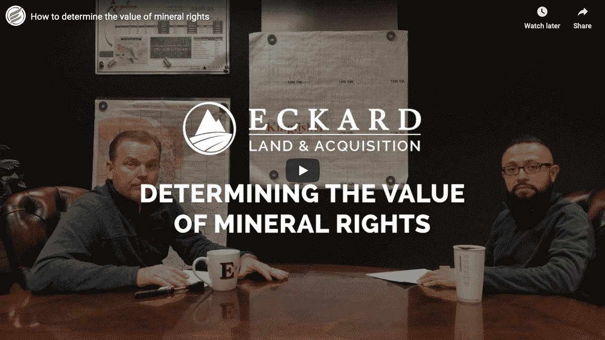 Hot to determine the mineral rights value