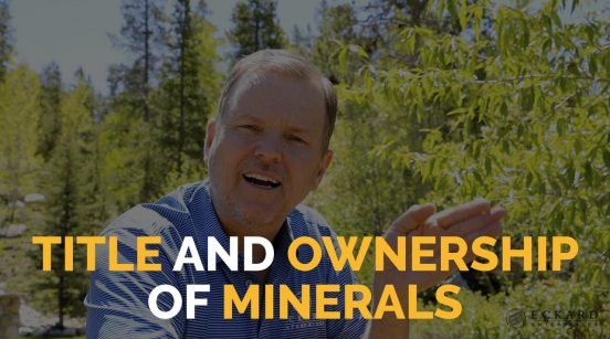 Title and ownership of minerals cover